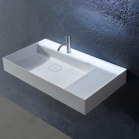 antoniolupi GRAFFIO countertop or wall-mounted washbasin white gloss, with 1 tap hole, without overflow