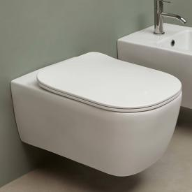 antoniolupi KOMODO wall-mounted washdown toilet with flat toilet seat satin white