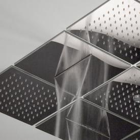antoniolupi LAMATTONELLA recessed, modular overhead shower with cascade