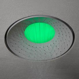 antoniolupi LUMEN recessed overhead shower with RGB LED lighting