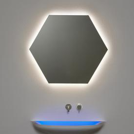 antoniolupi MODULO hexagonal mirror with LED lighting