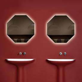 antoniolupi MODULO octagonal mirror with LED lighting