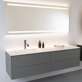 antoniolupi NIDO countertop with PIANA vanity unit with 4 pull-out compartments