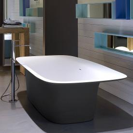 antoniolupi SARTO freestanding bath matt black / matt white, waste chrome