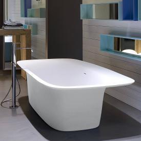 antoniolupi SARTO freestanding bath matt white, waste brushed black chrome