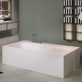 antoniolupi SARTO freestanding rectangular bath waste brushed black chrome