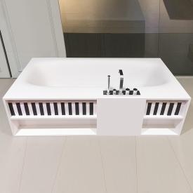 antoniolupi SARTO rectangular bath with storage compartments waste satin stainless steel