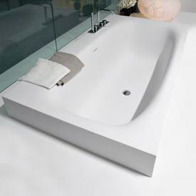 antoniolupi SARTO semi-recessed bath waste chrome