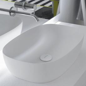antoniolupi  SENSO countertop washbasin matt white, white waste valve