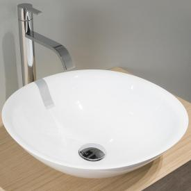 antoniolupi SERVO countertop washbasin white gloss, chrome waste valve