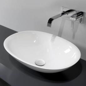 antoniolupi SERVO countertop washbasin matt white, matt white waste valve