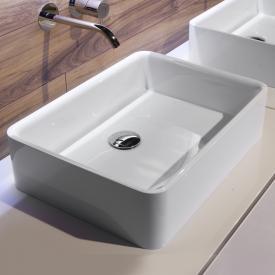 antoniolupi SERVORETTO countertop washbasin white gloss, chrome waste valve