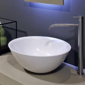 antoniolupi SERVOTONDO countertop washbasin white gloss, chrome waste valve