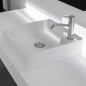 antoniolupi SIMPLO countertop washbasin matt white, with 1 tap hole