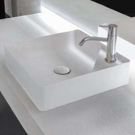 antoniolupi SIMPLO countertop washbasin matt white, with 1 tap hole