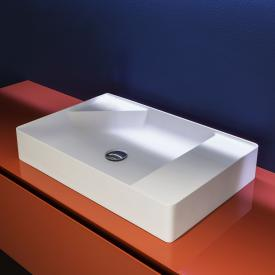 antoniolupi SIMPLO countertop washbasin matt white, without tap hole, without overflow