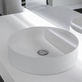 antoniolupi SIMPLOTONDO countertop washbasin matt white, without tap hole, without overflow