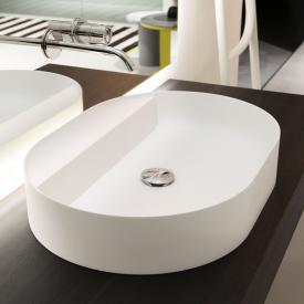 antoniolupi SIMPLOVALE countertop washbasin matt white, without tap hole, without overflow
