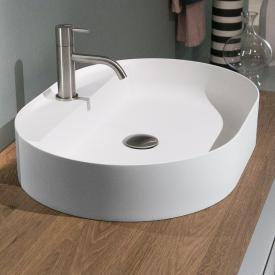 antoniolupi SIMPLOVALE countertop washbasin matt white, with 1 tap hole, without overflow
