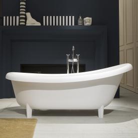 antoniolupi SUITE freestanding oval bath matt white, waste satin stainless steel