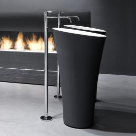 antoniolupi TUBA floorstanding washbasin matt black/matt white
