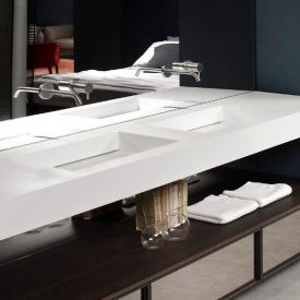 antoniolupi suspended Top with 2 integrated MYSLOT 72 basins white