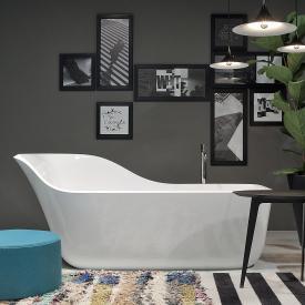 antoniolupi WANDA freestanding oval bath waste brushed black chrome
