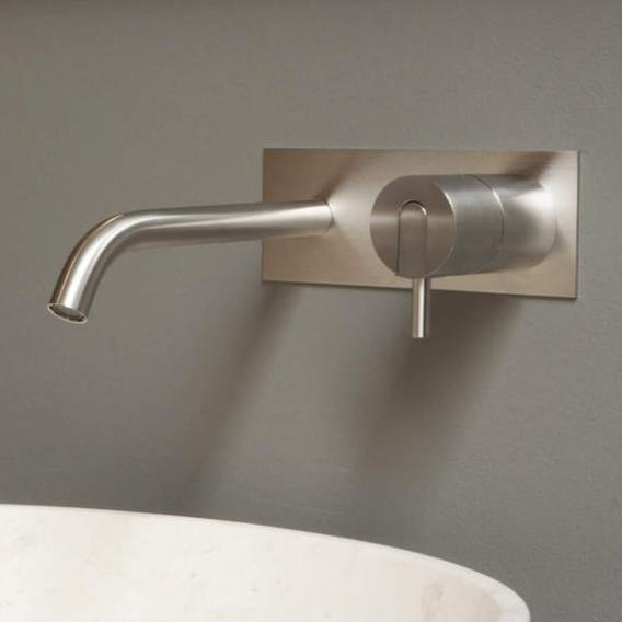 antoniolupi AYATI concealed single lever basin mixer projection: 120 mm, satinised stainless steel