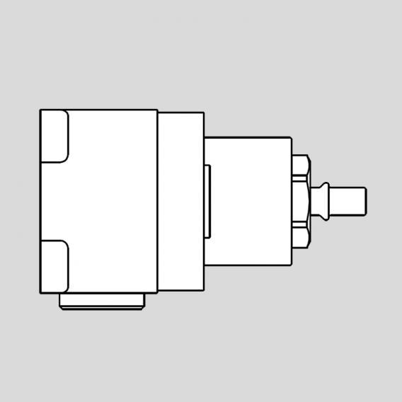 antoniolupi BIKAPPA concealed installation unit for single lever basin mixer chrome