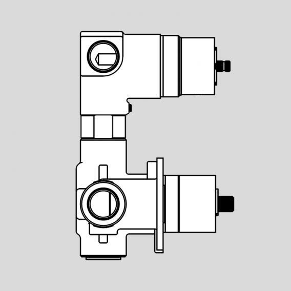 antoniolupi BIKAPPA concealed installation unit for thermostat with 2-way diverter brushed black chrome