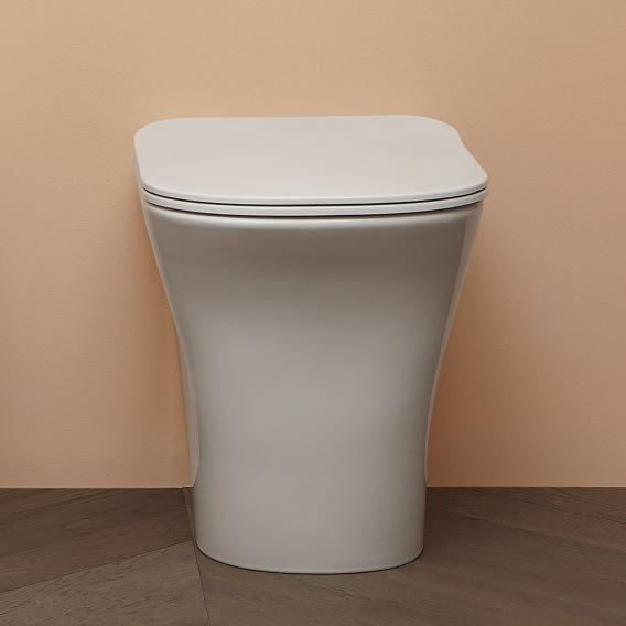 antoniolupi CABO floorstanding washdown toilet with Flat toilet seat white