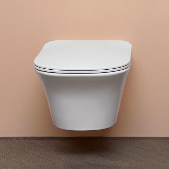 antoniolupi CABO wall-mounted washdown toilet with Flat toilet seat matt white