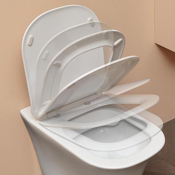 antoniolupi CABO wall-mounted washdown toilet with toilet seat Flat matt white