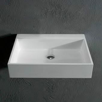 Antoniolupi Gesto Countertop Or Wall Mounted Washbasin White Gloss