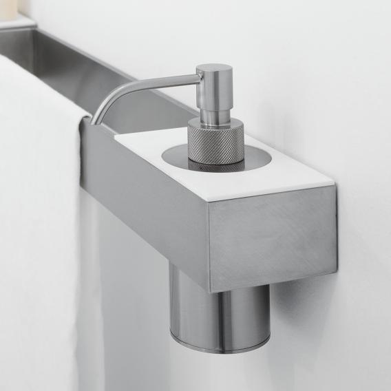 antoniolupi TAPE shelf with cut-out for tumbler or soap dispenser