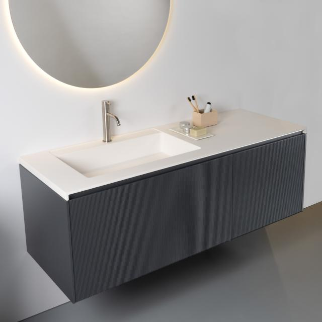 antoniolupi BASICO countertop with BINARIO 03 vanity unit with 2 pull-out compartments