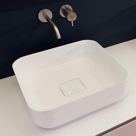 antoniolupi BOLO countertop washbasin matt white, waste valve matt white
