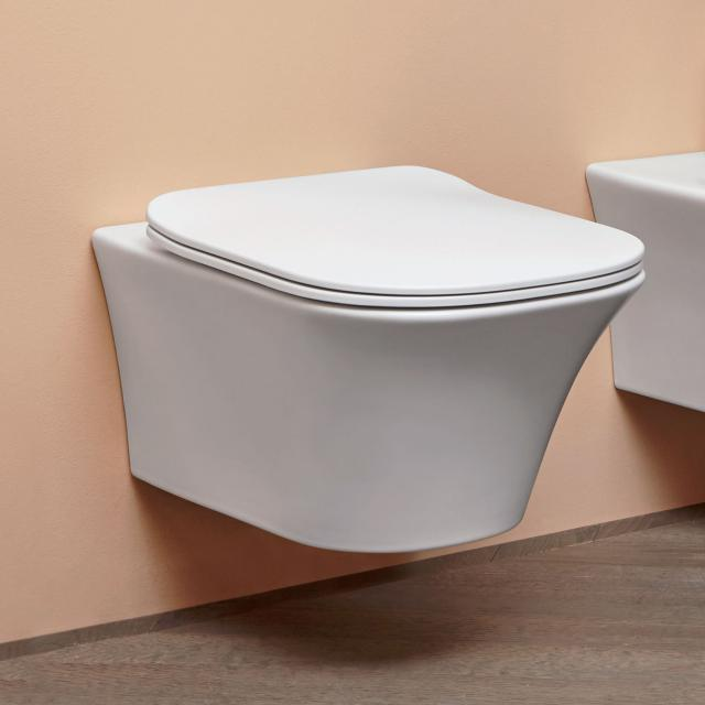 antoniolupi CABO wall-mounted washdown toilet with Flat toilet seat white