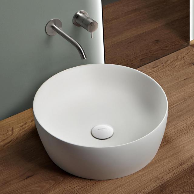 antoniolupi CATINO countertop washbasin matt white, waste valve matt white