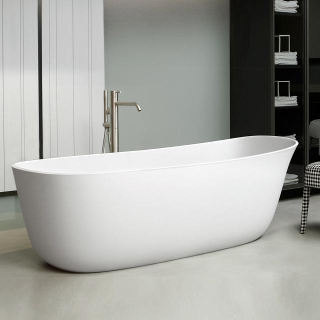 antoniolupi DAFNE freestanding oval bath waste set brushed black chrome