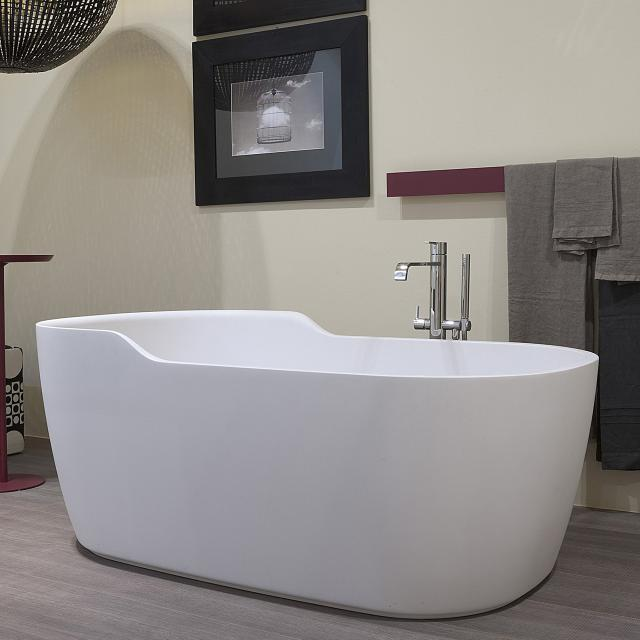 antoniolupi FUNNY WEST freestanding oval bath waste set brushed black chrome