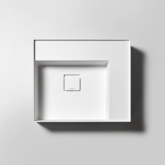 antoniolupi GRAFFIOMOOD countertop or wall-mounted hand washbasin matt white