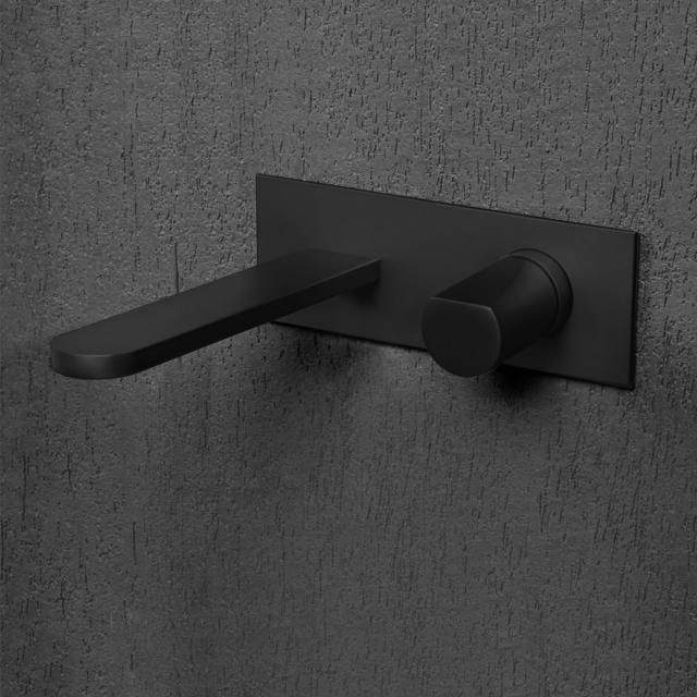 antoniolupi INDIGO concealed, single lever basin mixer projection: 235 mm, matt black