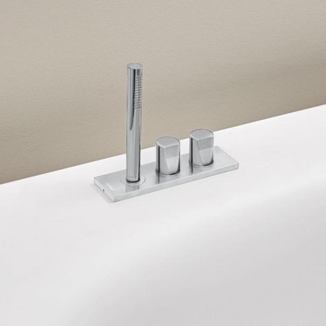 antoniolupi INDIGO deck-mounted, three hole bath fittings chrome