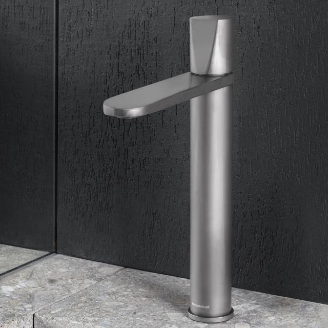 antoniolupi INDIGO single lever basin mixer satin stainless steel