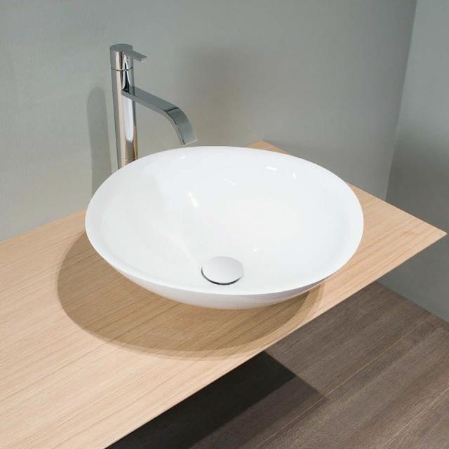 antoniolupi SERVO countertop washbasin matt white, waste valve matt white