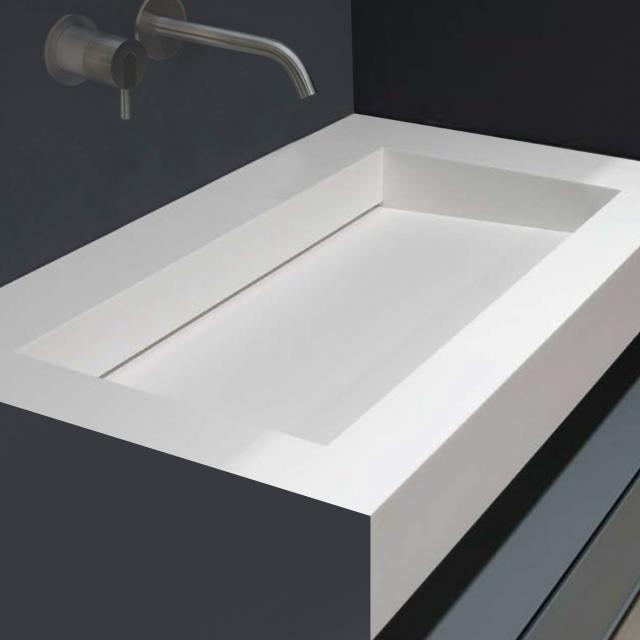 antoniolupi Top with integrated MYSLOT 72 basin white