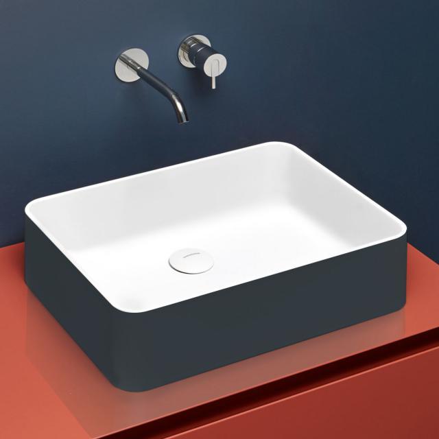 antoniolupi VELO countertop washbasin matt matita/matt white, waste valve matt white