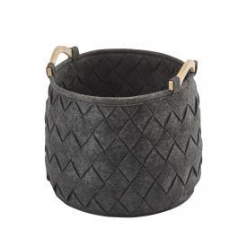 Aquanova AMY laundry basket, medium dark grey/fir