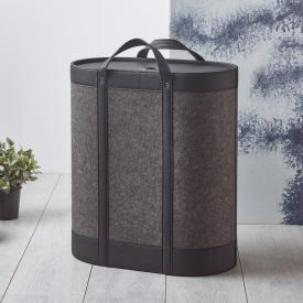 Aquanova BLIX laundry basket dark grey